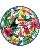 8 piatti con foglie e motivi tropicali 23 cm
