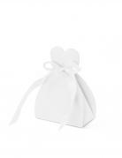 10 scatoline cuore in cartone bianche