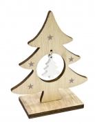 Decorazione di legno albero di Natale con sospensione