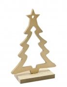 Decorazione di legno albero di Natale dorato