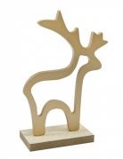 Decorazione di legno renna dorata