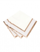 16 tovaglioli di carta stile porcellana oro rosa