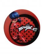 8 piatti rossi in cartone Ladybug™ 23 cm