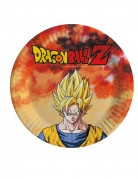 8 piattini in cartone Dragon Ball Z™ 18 cm