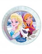 8 piatti in cartone inverno Frozen™ 23 cm