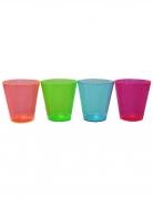 50 bicchierini in plastica fluo multicolor
