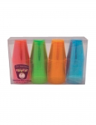 60 bicchierini in plastica multicolor