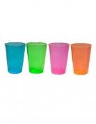 50 bicchieri mezze pinte in plastica multicolor