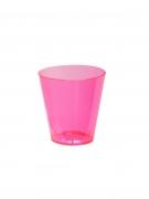 60 bicchierini in plastica rosa fluo