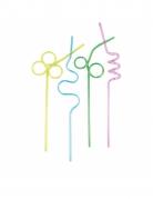 4 cannucce spirali multicolor