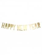 Ghirlanda in cartone Happy New Year color oro
