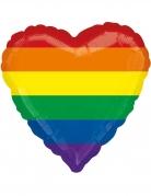 Palloncino in alluminio a forma di cuore arcobaleno