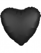 Palloncino alluminio cuore nero