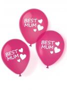 6 palloncini in lattice rosa Best Mum