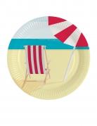 8 piatti in cartone in spiaggia 23 cm