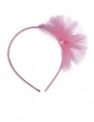 Cerchietto piccola ballerina in tulle rosa bambina