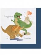 20 tovaglioli di carta grandi dinosauri