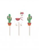 3 decorazioni per torte lama e cactus
