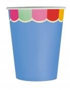 8 bicchieri in cartone smerlati multicolor