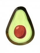 8 piatti in cartone avocado 25 cm