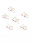Coriandoli da tavola iridescenti Happy Birthday