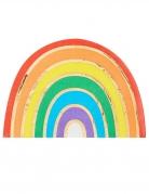 16 tovaglioli in carta a forma di arcobaleno