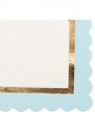 16 Tovaglioli di carta bianchi e celesti