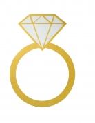 Quadro a forma di anello con diamante