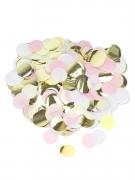 Coriandoli di carta rosa oro e bianchi