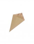 10 coni kraft con foglie oro rosa