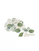 100 coriandoli amore eucalipto 2.3 x 5 cm