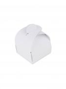 10 mini scatole in cartone arrotondate bianche