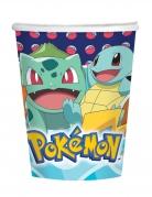 8 bicchieri in cartone Pokemon™ 250 ml