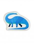 12 vassoi in cartone piccolo dinosauro blu