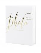 Album per foto bianco e oro