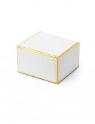 10 scatoline in cartone bianco con bordo oro