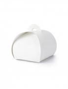 10 mini scatole in cartone bianco