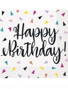 16 tovaglioli di carta triangoli Happy Birthday