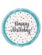 Palloncino alluminio triangoli Happy Birthday