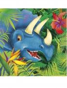 16 tovaglioli di carta dinosauri giungla