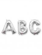 Palloncino alluminio argento lettera 33 cm