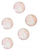 10 mini decorazioni in vetro cigno rosa