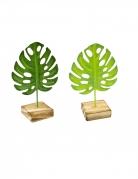 Foglia tropicale in legno con supporto