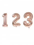 Palloncino alluminio numero color oro rosa
