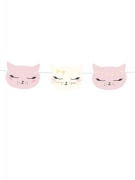 Ghirlanda in cartone gattini rosa e bianchi