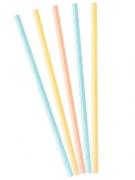 10 cannucce in cartone color pastello