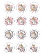 12 decorazioni per biscotti unicorno