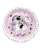 8 piatti in cartone Minnie unicorn™ 23 cm
