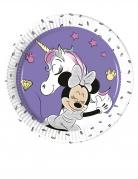 8 piattini in cartone Minnie unicorn™ 20 cm