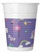 8 bicchieri in plastica Minnie unicorn™